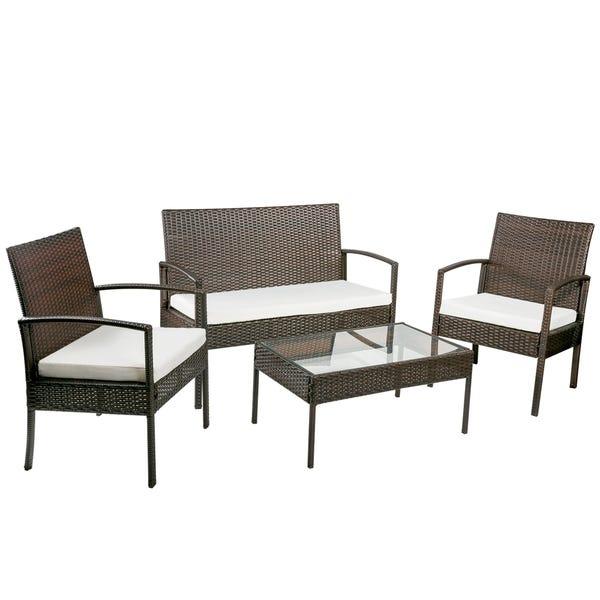Shop Merax 4-piece Outdoor Rattan Furniture Set Patio Wicker .