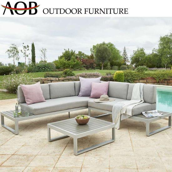 China Modern Design Aluminum Alloy L Shape Sofa Set Outdoor Garden .