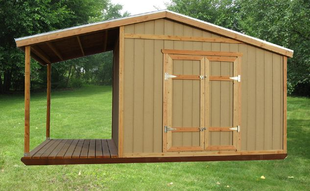 rustic sheds with porch | Storage Shed Plans With Porch – Build a .