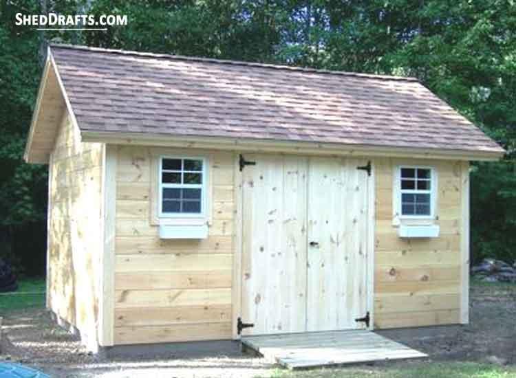8×12 Gable Garden Storage Shed Plans Blueprints For Erecting .