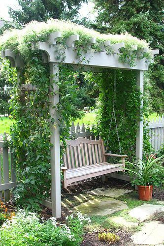 36 Amazing Garden Structure Design Ideas | Garden swing, Backyard .