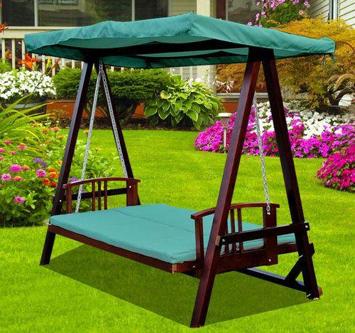 Swing swing swing! 3 Seater wooden garden swing chair seat hammock .