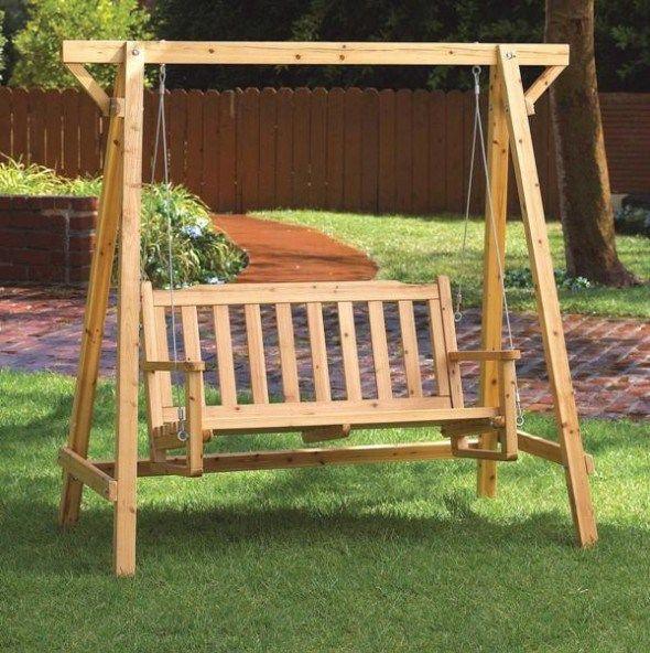 diy wooden swing set plans free | Garden swing, Patio furniture .