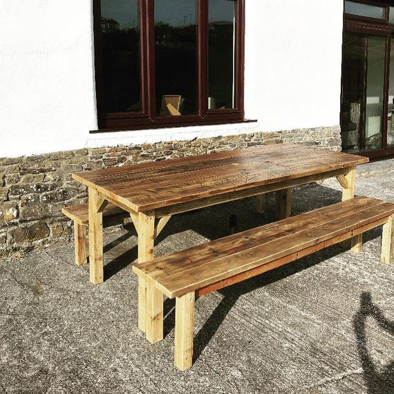 Farmhouse Dining Table / Garden Table Reclaimed Wood Table and | Et