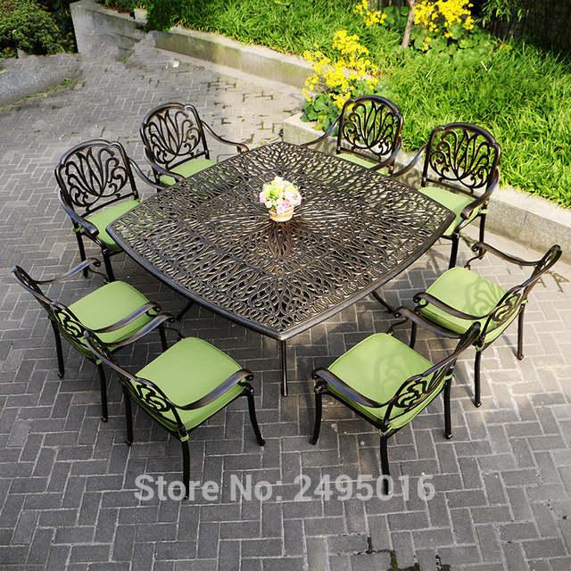 9 piece cast aluminum patio furniture garden furniture Outdoor .