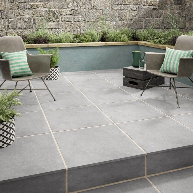 Habitat Grey 2CM | Patio flooring, Garden til
