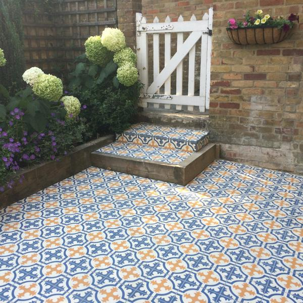 Encaustic Tiles for Gardens – Alhambra Tiles L