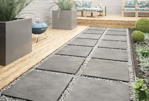 Croyde Graphite Indoor & Outdoor Porcelain Floor Tile 610 X 610mm .