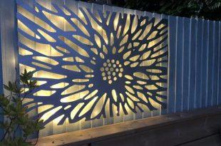 Laser Cut Decorative Metal Wall Art Panel Garden Wall   Et
