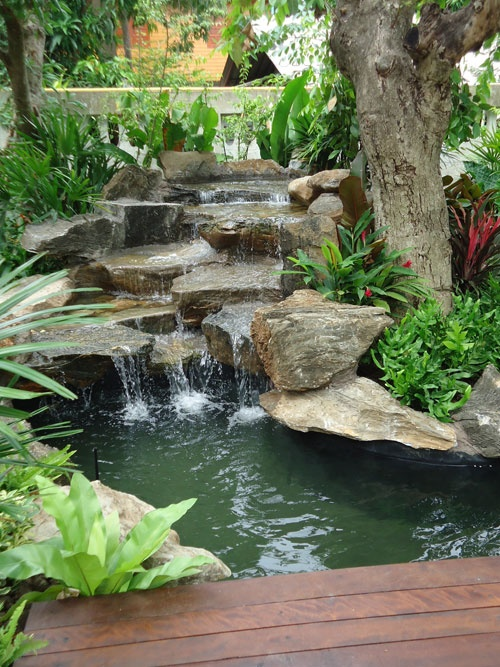 75 Relaxing Garden And Backyard Waterfal