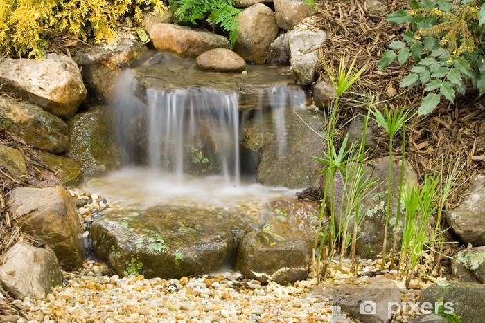 small garden waterfalls Wall Mural • Pixers® - We live to chan