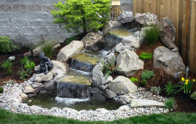 Small Garden Waterfalls Pictures | Waterfalls backyard, Waterfall .