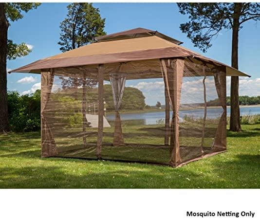 Amazon.com : Sunjoy S-GZ001-E-MN 10' x 10' Mosquito Netting Panels .