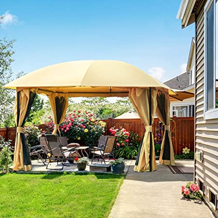 Amazon.com : Quictent 12x12 ft Gazebo with Mosquito Netting and .
