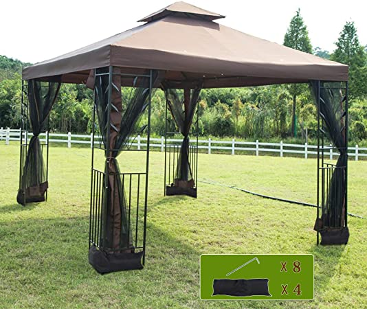 Amazon.com : FDW Canopy Tent Grill Gazebo for Patio Outdoor Canopy .