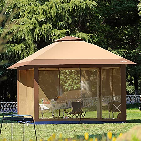 Amazon.com : Suntime Outdoor Pop Up Gazebo Canopy with Mosquito .