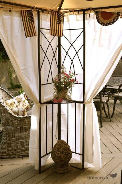 DIY Outdoor Canopy Curtains   Diy gazebo, Canopy outdoor, Gazebo .