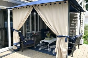 DIY Gazebo Curtains | Diy gazebo, Gazebo curtains, Patio shade d