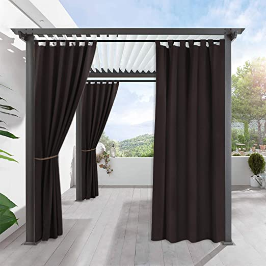 Amazon.com: RYB HOME Indoor Outdoor Curtains - Gazebo Curtains .