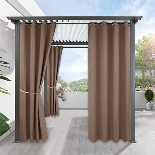 Amazon.com: RYB HOME Outdoor Gazebo Curtain - Cabana Sun Curtains .