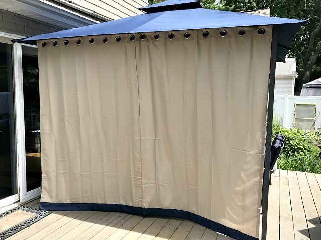 DIY Gazebo Curtains   Diy gazebo, Gazebo curtains, Backyard gaze