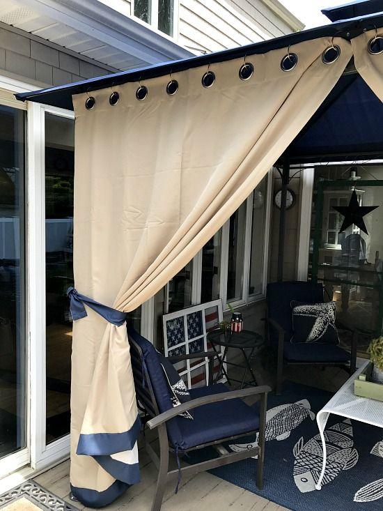 DIY Gazebo Curtains   Diy gazebo, Outdoor curtains, Gazebo curtai