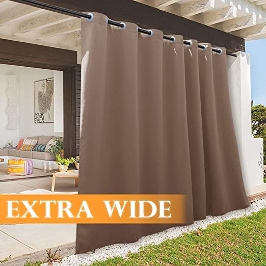 Amazon.com: RYB HOME Outdoor Gazebo Curtains, Waterproof Weather .