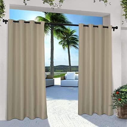 Amazon.com : NA 2 Pieces 108 Inch Taupe Color Gazebo Curtains Set .