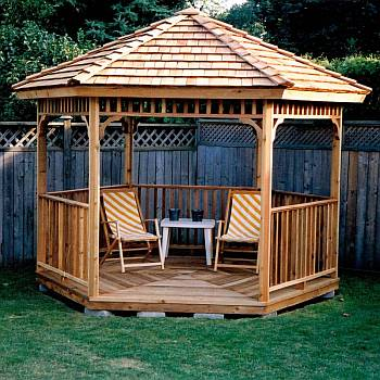 Gazebo Kits - Wood DIY Kit - FREE Shipping - Garden, Lawn or Pat