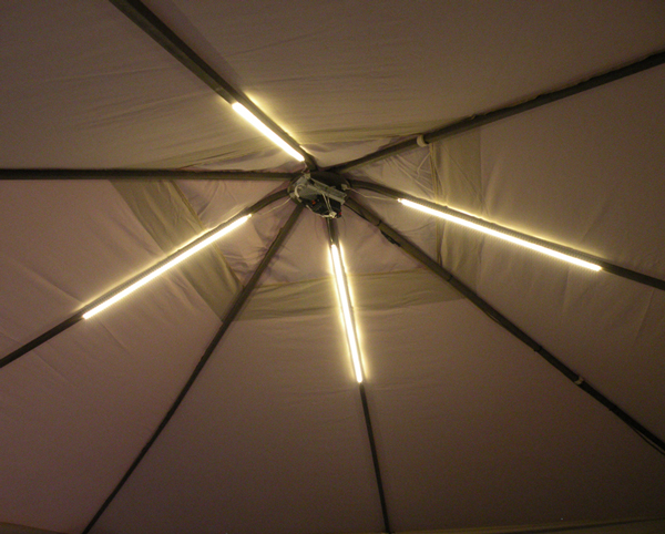 Gazebo Lighting Project using Warm White LED Stri