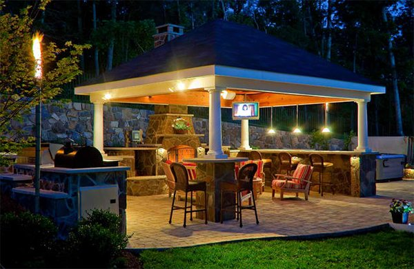 20 Amazingly Gorgeous Gazebo Lighting   Home Design Lov