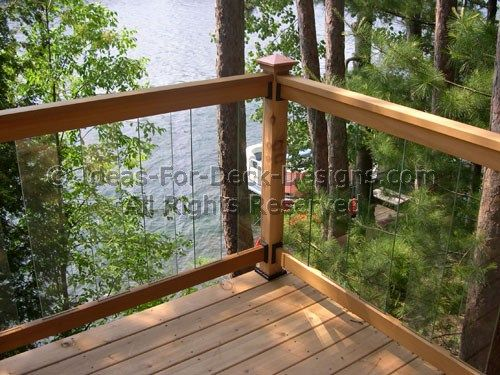Glass Deck Railing - Choose Wood or Aluminum | Deck railings, Deck .