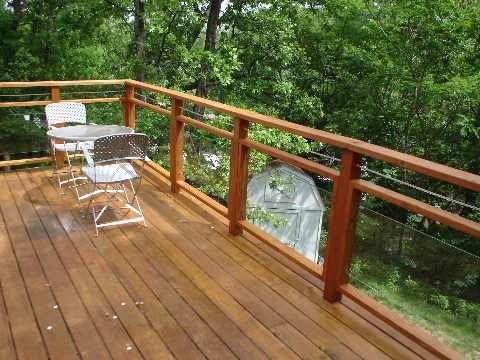 Glass Panel Railings For Decks | Thread: attempting wooden deck .