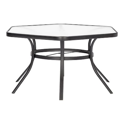 Garden Treasures Pelham Bay Hexagon Dining Table 50-in W x 56-in L .