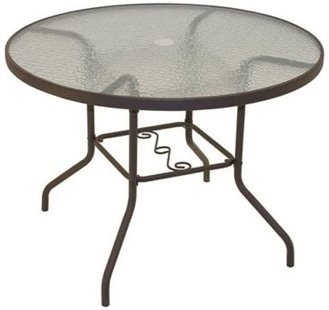 Amazon.com: Rio Brands 40 Inch Sienna Round Patio Table With .