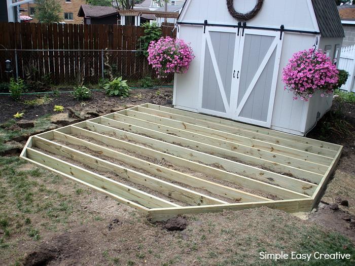 How to Build a Ground Level Deck - Hoosier Homema