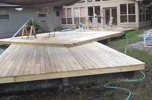 Ground Level Deck Built With Titan Deck Foot Ancho