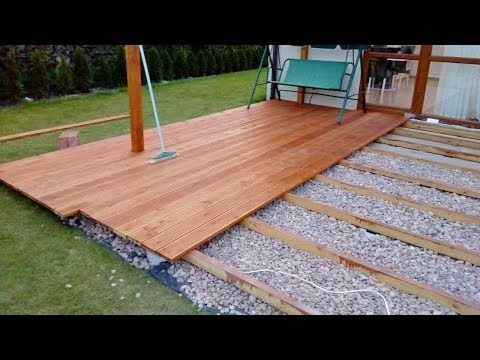 How to build a ground level deck by yourself - YouTube | Patio .