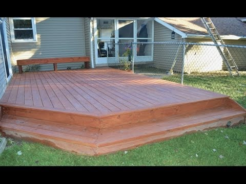 How to Build a Ground Level Deck - YouTu