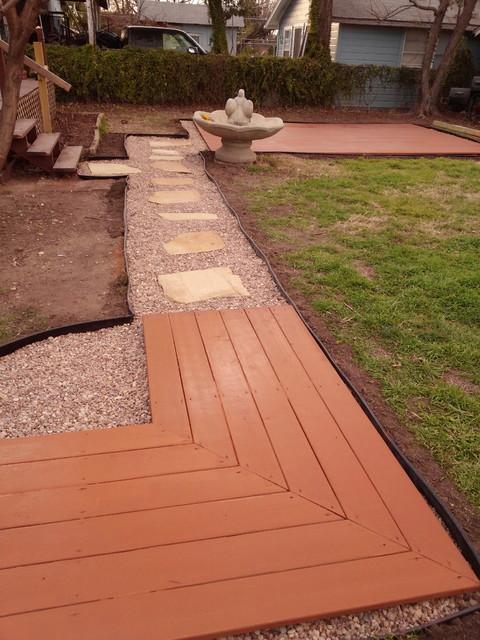 Ground level deck / Flagstone - Modern - Austin - by Home Sour