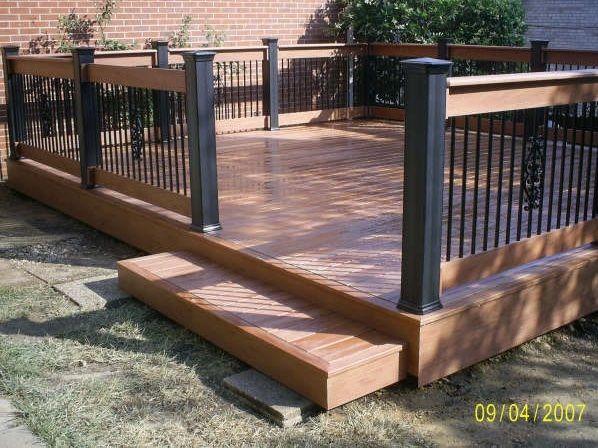 Beautiful ground level deck | Patio deck designs, Decks backyard .
