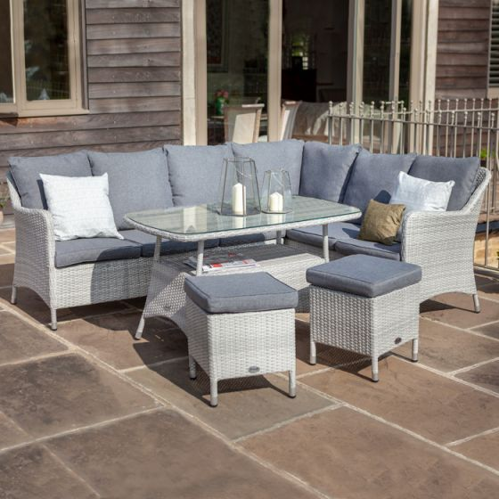 Hartman Curve Rectangular Casual Dining Set | Garden Furniture .