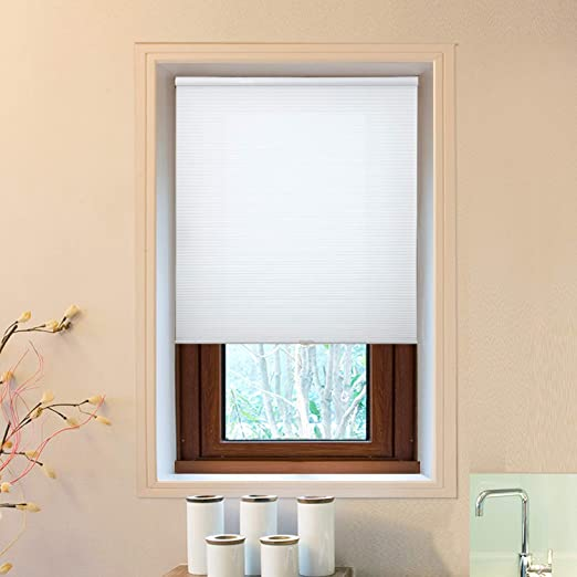 Amazon.com: Cellular Honeycomb Blinds White Privacy Light .