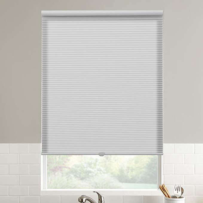 SBARTAR Cordless Cellular Blinds 34 White Window Honeycomb Blinds .
