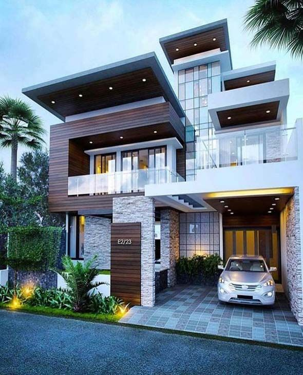 Best Moadern Dream House Exterior Designs You Will Amazed | Facade .