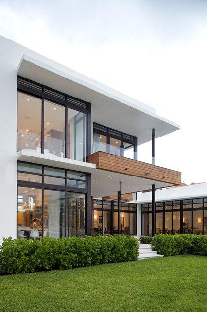 71 Contemporary Exterior Design Photos | Modern glass house .