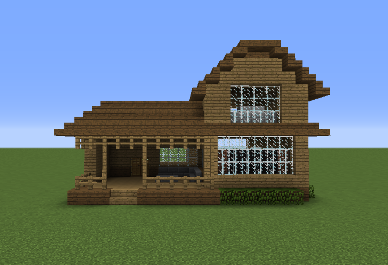 Wooden House 16 - GrabCraft - Your number one source for MineCraft .
