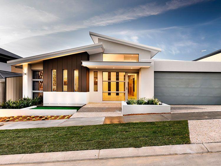 single storey skillion roof - Google Search | Facade house, Modern .