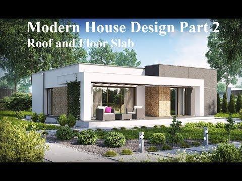 Revit Tutorial - Modern House Design Part 2 - Roof and Floor Slab .