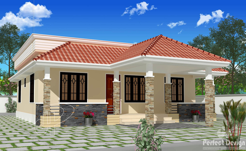Beautiful single floor house with roof deck - Pinoy House Pla